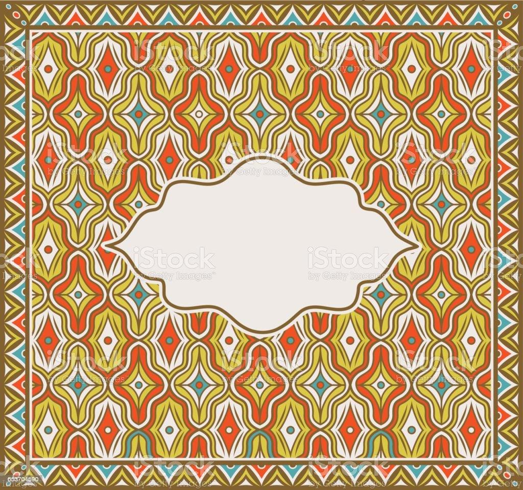 Ilustración de Oriental Indio Asiático Recargado Cuadrado Multicolor ...