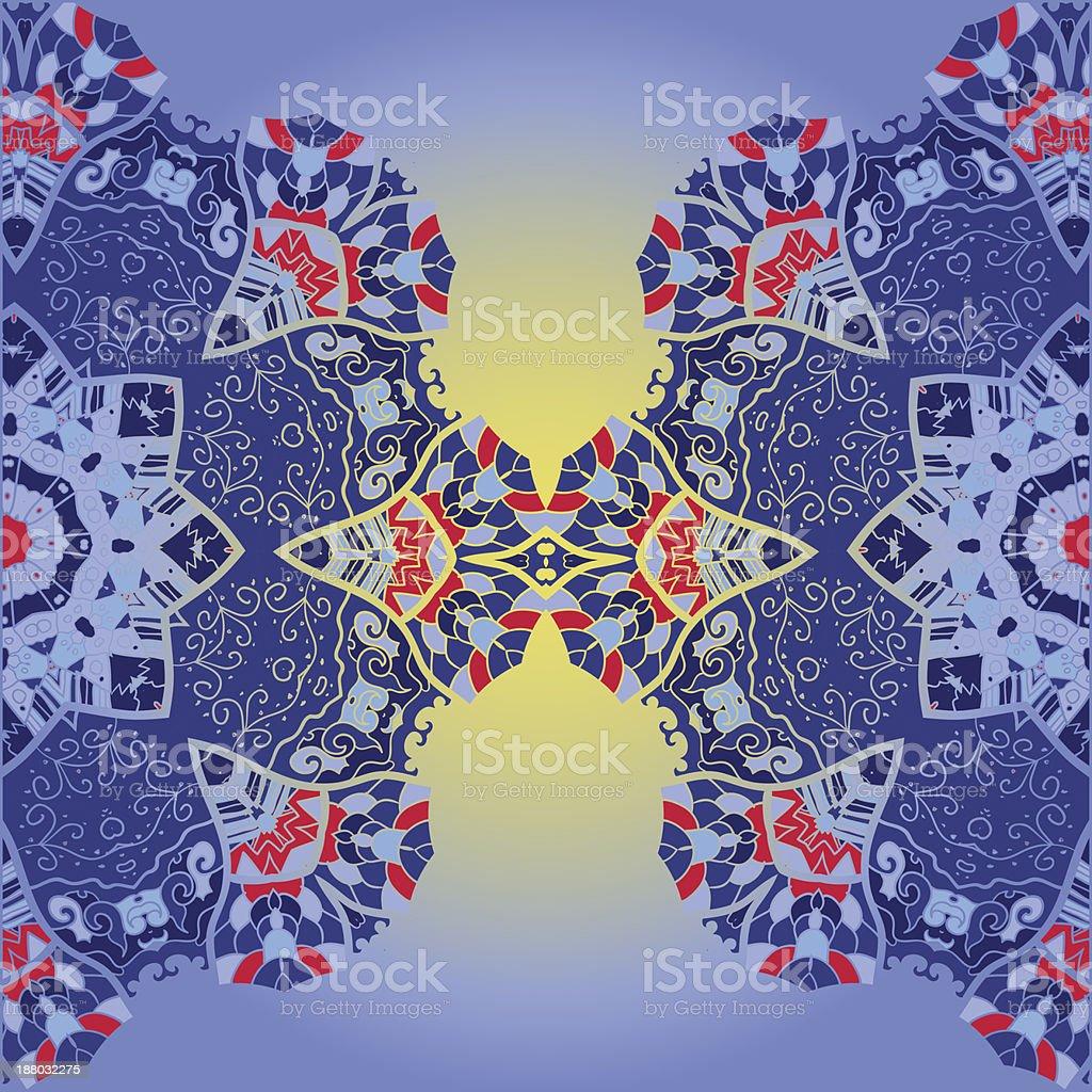 Oriental mandala motif royalty-free oriental mandala motif stock vector art & more images of backgrounds