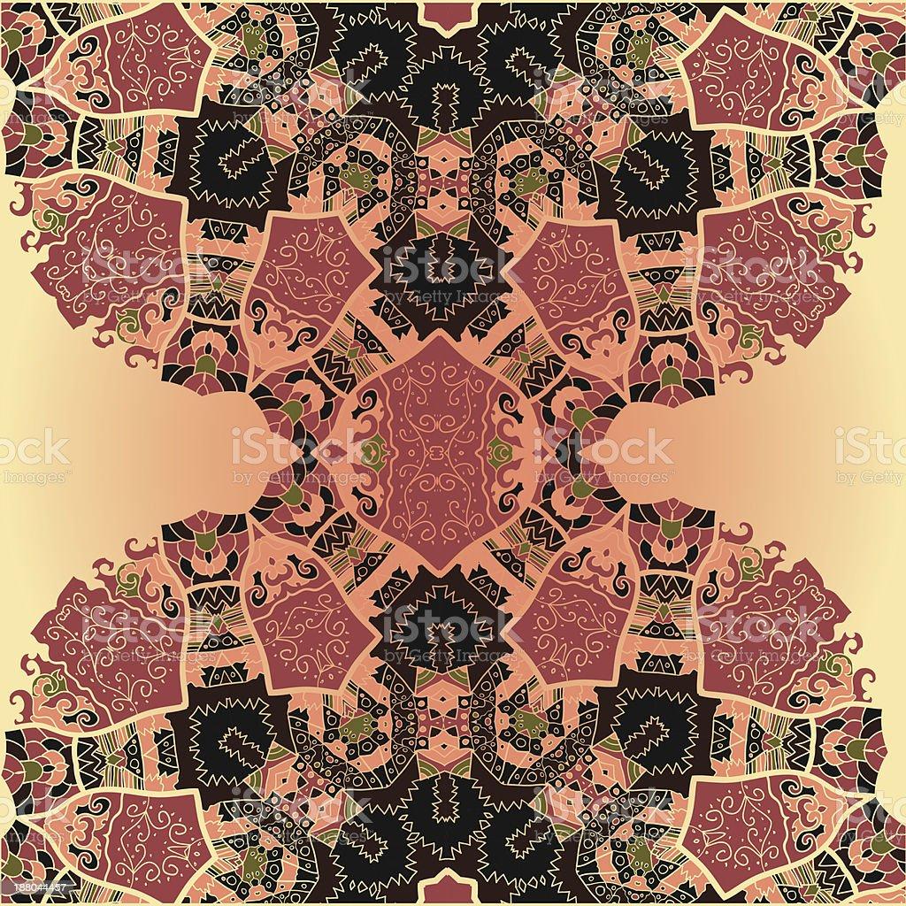Oriental mandala motif royalty-free oriental mandala motif stock vector art & more images of brown