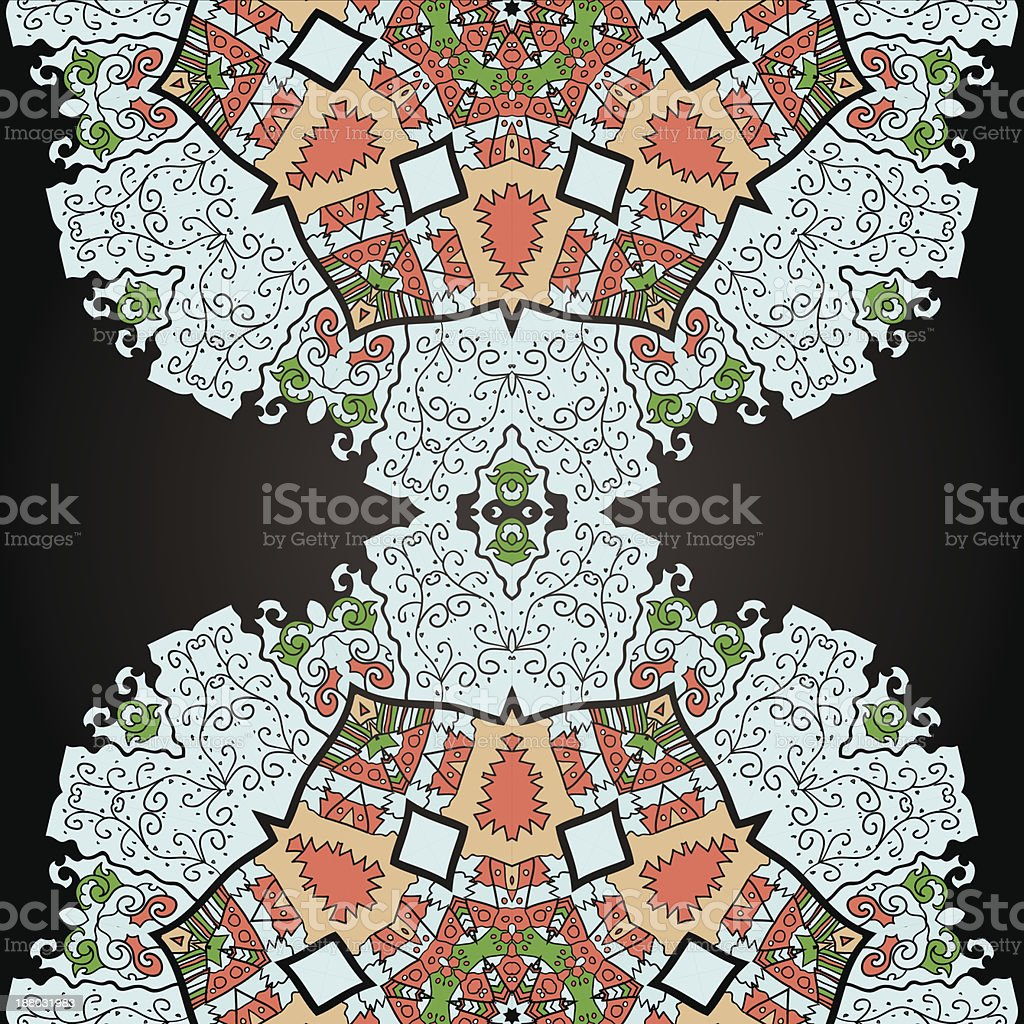 Oriental mandala motif royalty-free oriental mandala motif stock vector art & more images of blue
