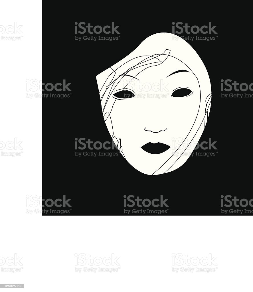 Oriental Mask simple illustration vector art illustration