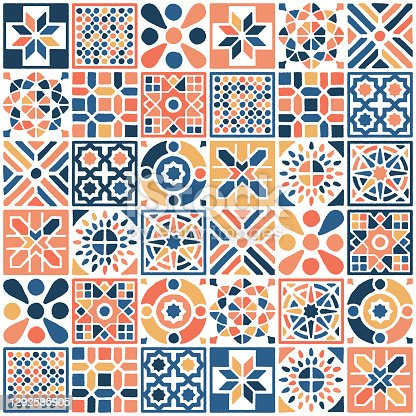 istock Oriental Moroccan Tile Seamless Pattern 1292585905