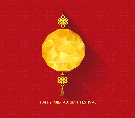 Oriental Paper geometrical lantern. Mid Autumn Festival