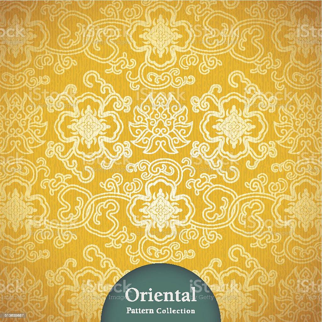 Oriental Pattern Design vector art illustration