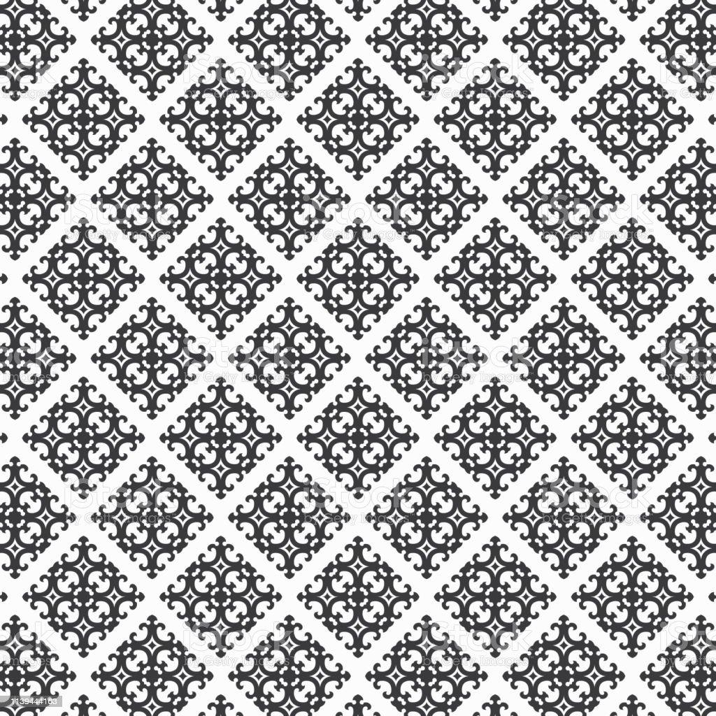 Papier Peint Noir Et Blanc Graphique motif oriental en noir et blanc graphique propre pour le