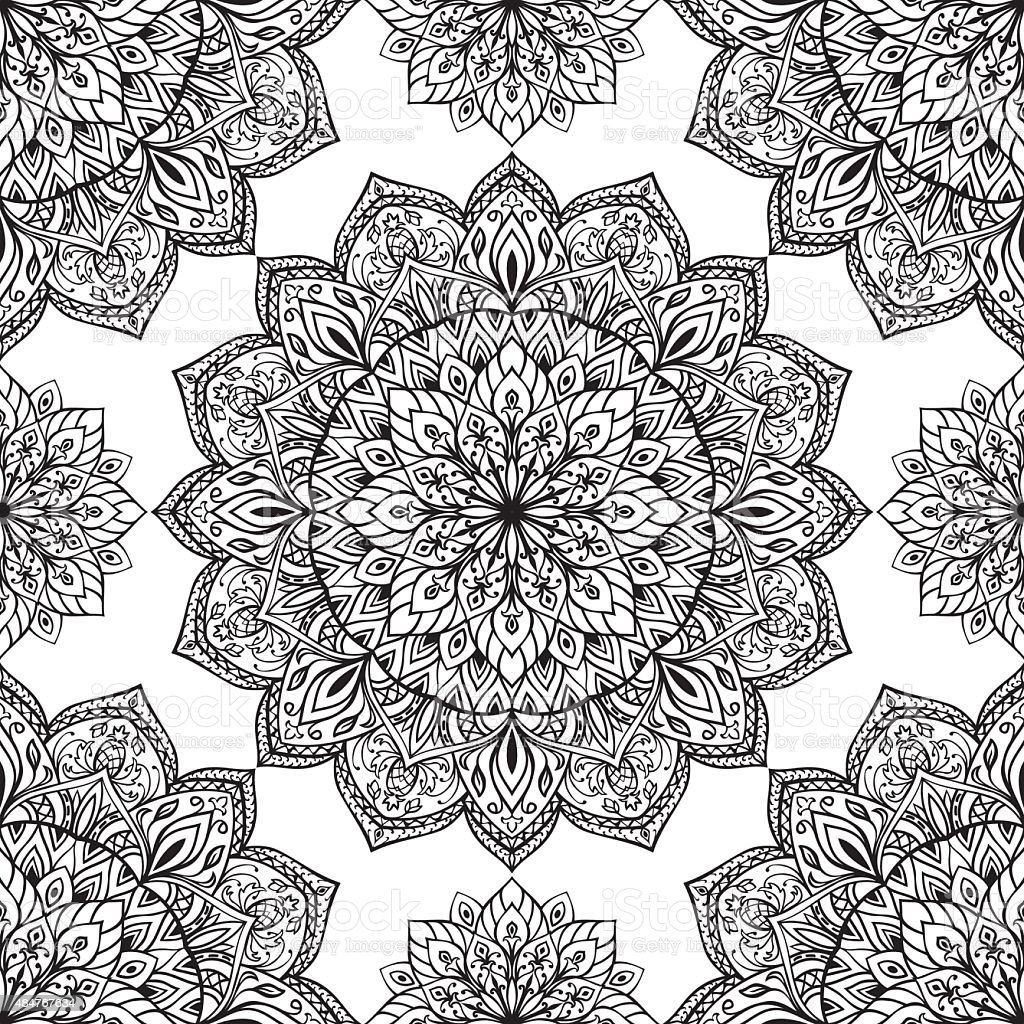 oriental pattern of mandalas stock vector art more images of 2015 484767634 istock. Black Bedroom Furniture Sets. Home Design Ideas
