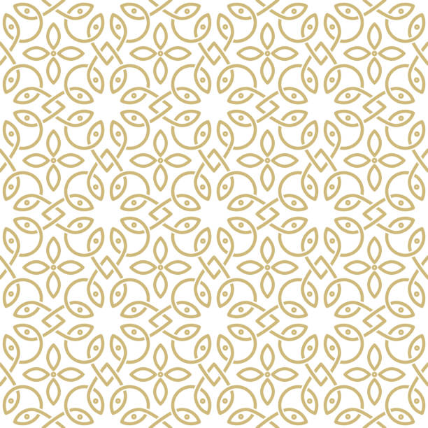 oriental pattern - floral and decorative background stock illustrations