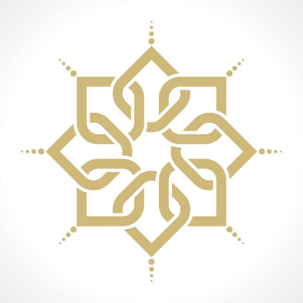 oriental pattern geometric arabic pattern morocco stock illustrations