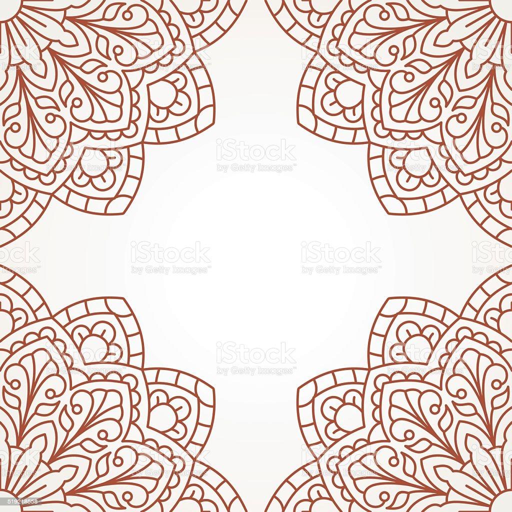 orientalische muster mit mandala stock vektor art und mehr bilder von abstrakt 519218558 istock