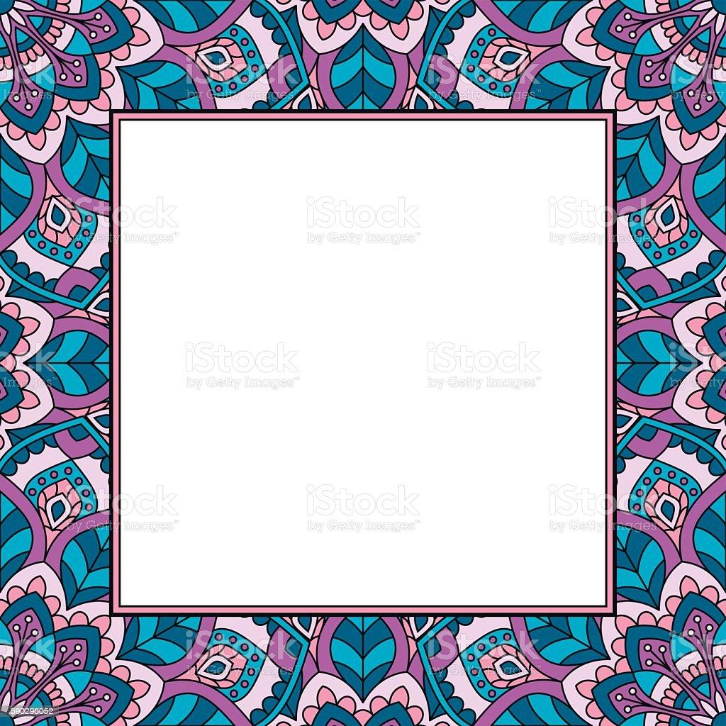 Восточный узор с mandala. Восточный узор с mandala — стоковая векторная графика и другие изображения на тему Абстрактный Стоковая фотография