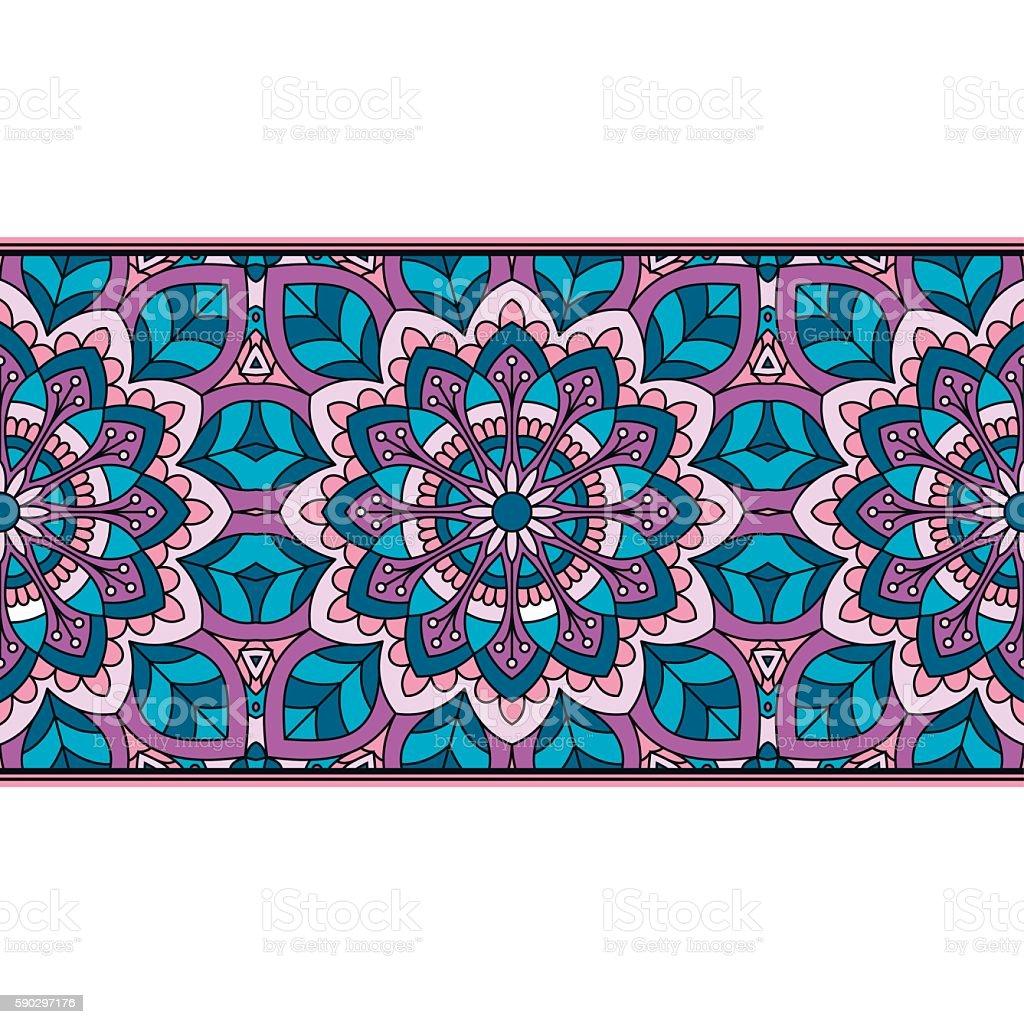 Oriental pattern with mandala.. royaltyfri oriental pattern with mandala-vektorgrafik och fler bilder på abstrakt
