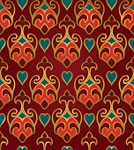 Oriental abstract ornament. Template for carpet, wallpaper, textile and any surface. Seamless rich pattern.