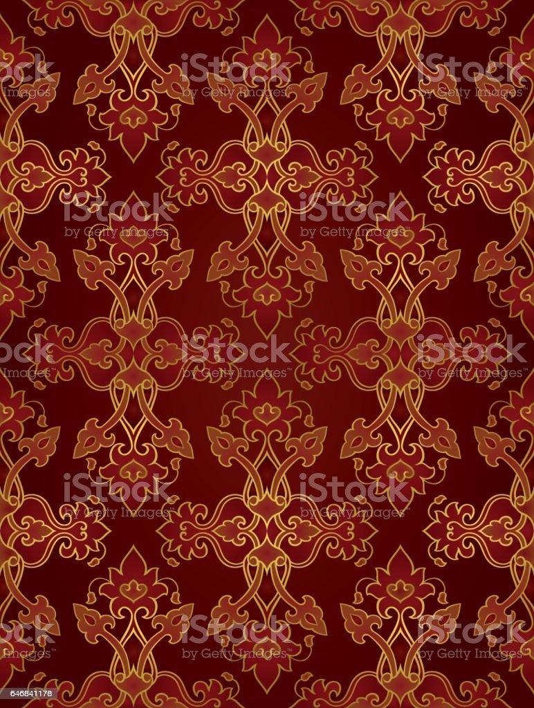 Oriental rich ornament. vector art illustration