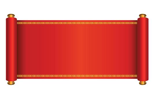 Oriental scroll vector