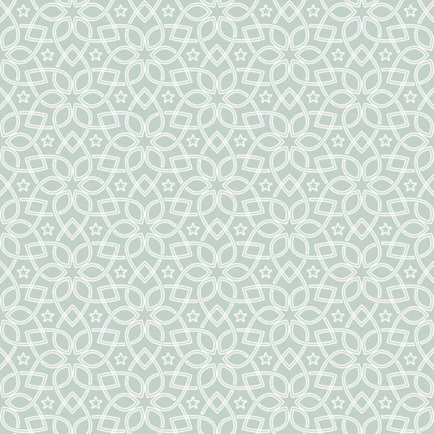 illustrazioni stock, clip art, cartoni animati e icone di tendenza di oriental seamless pattern. seamless geometric flower design - arabia