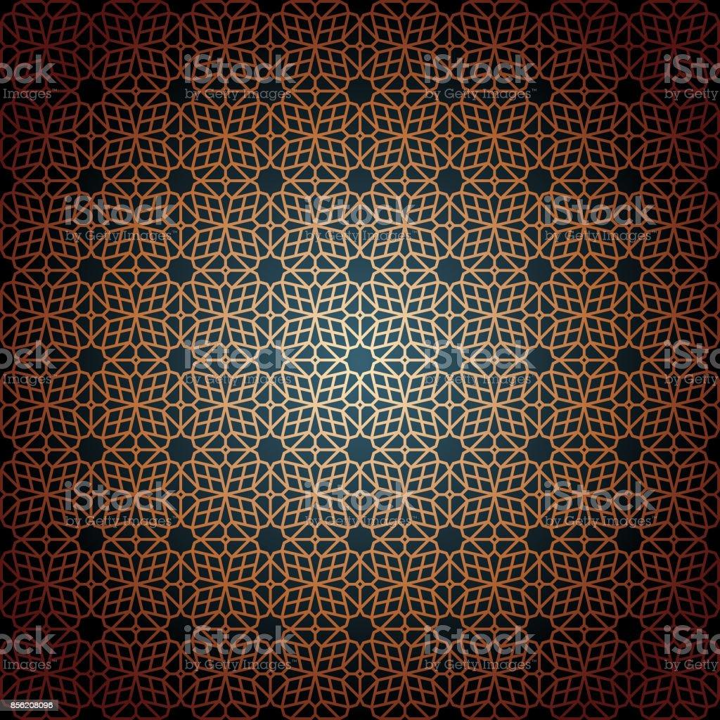 Orientalische Nahtlose Muster – Vektorgrafik