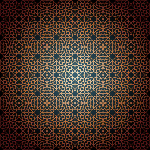 Oriental Seamless Pattern vector art illustration
