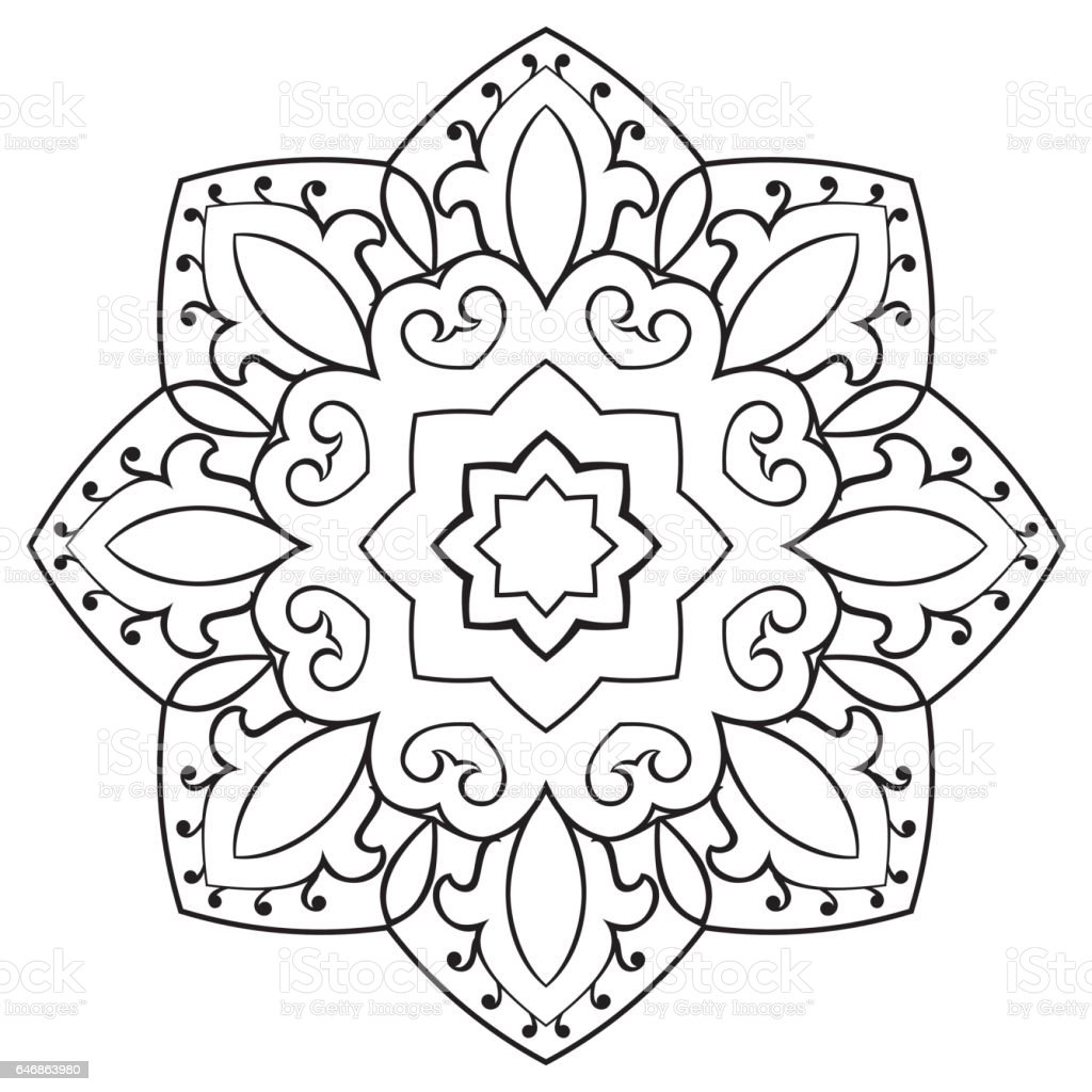 Oriental Simple Mandala Stock Vector Art & More Images Of