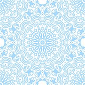 Oriental style in decorative pattern. Color in book page. Mandala. Vector illustrations.