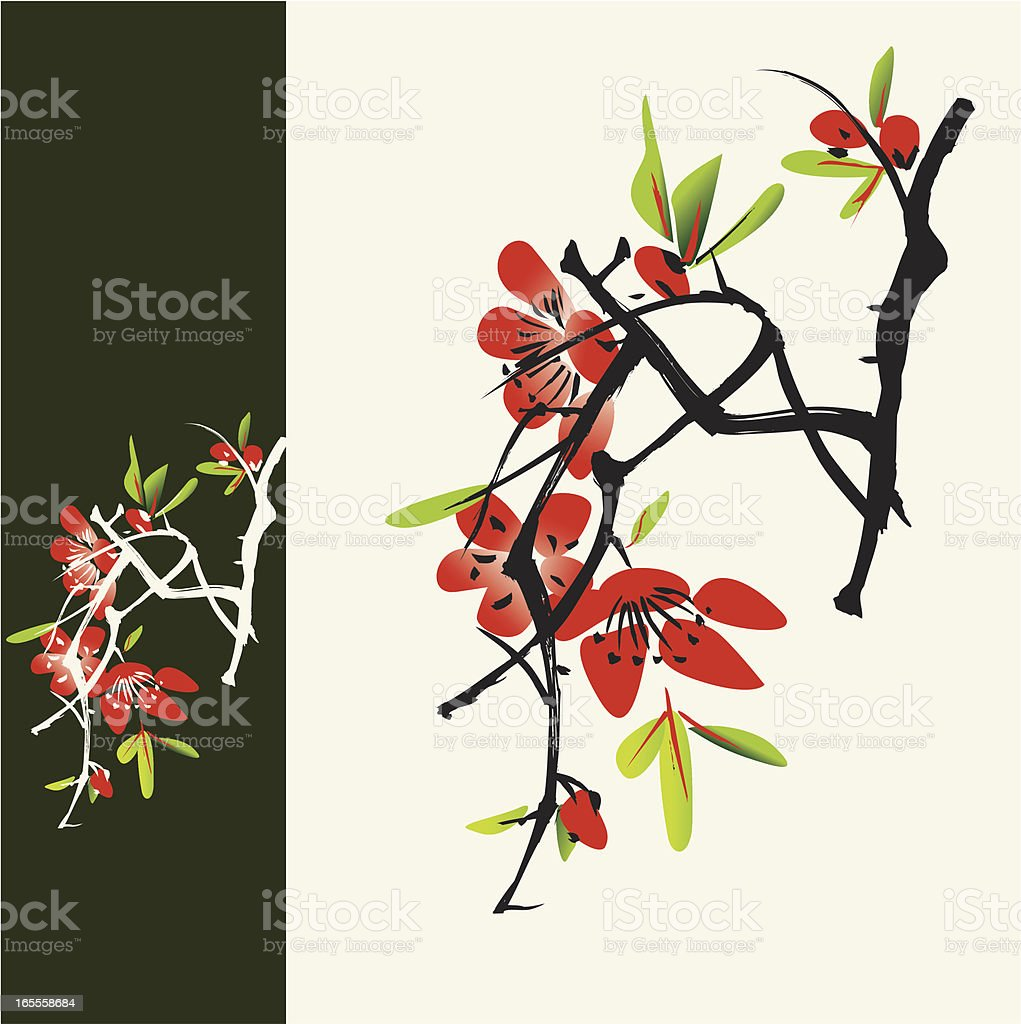 Oriental style painting, vector illustration vector art illustration