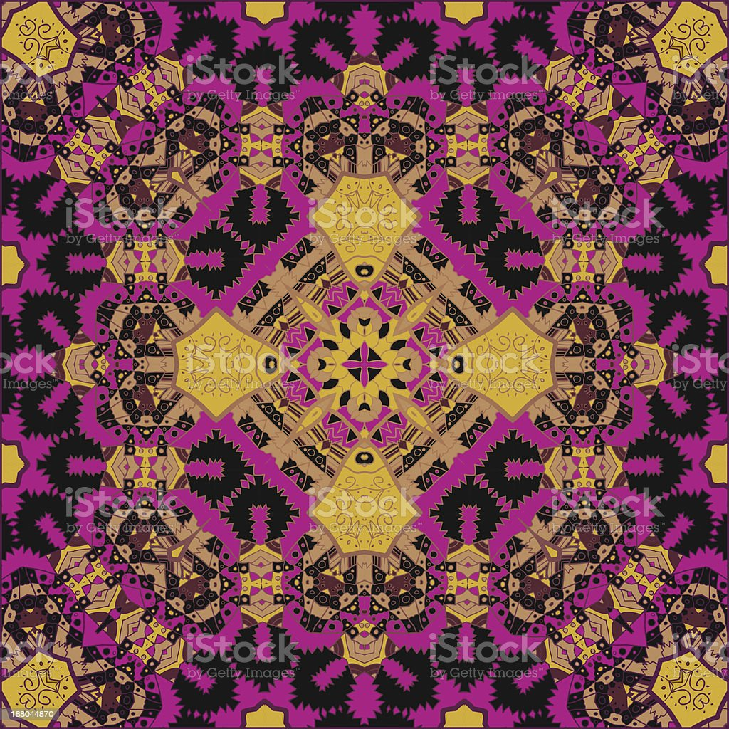 Oriental traditional ornament motif royalty-free stock vector art