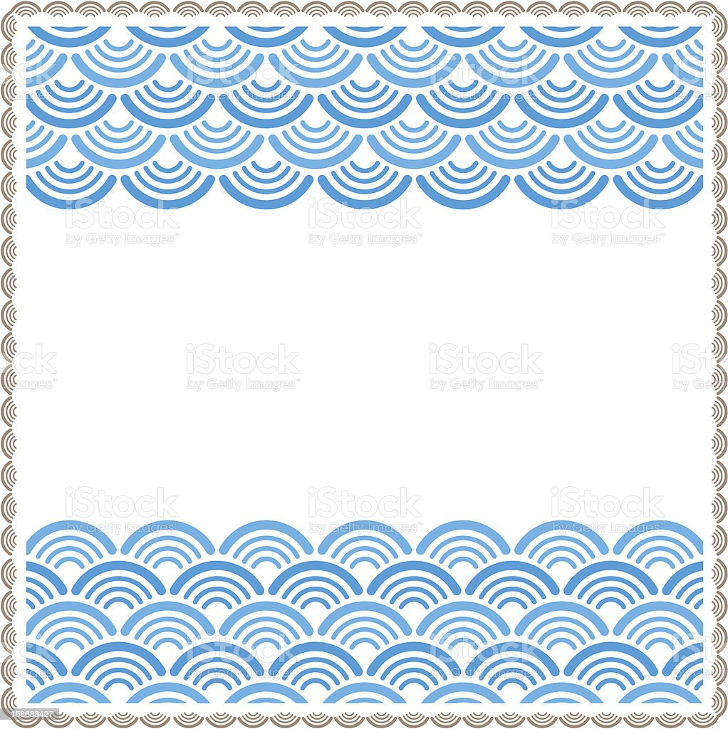 Oriental traditional wave pattern frame royalty-free oriental traditional wave pattern frame stock vector art & more images of backgrounds