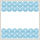 Oriental traditional wave pattern frame