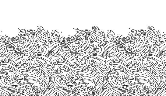 Oriental wave seamless wallpaper