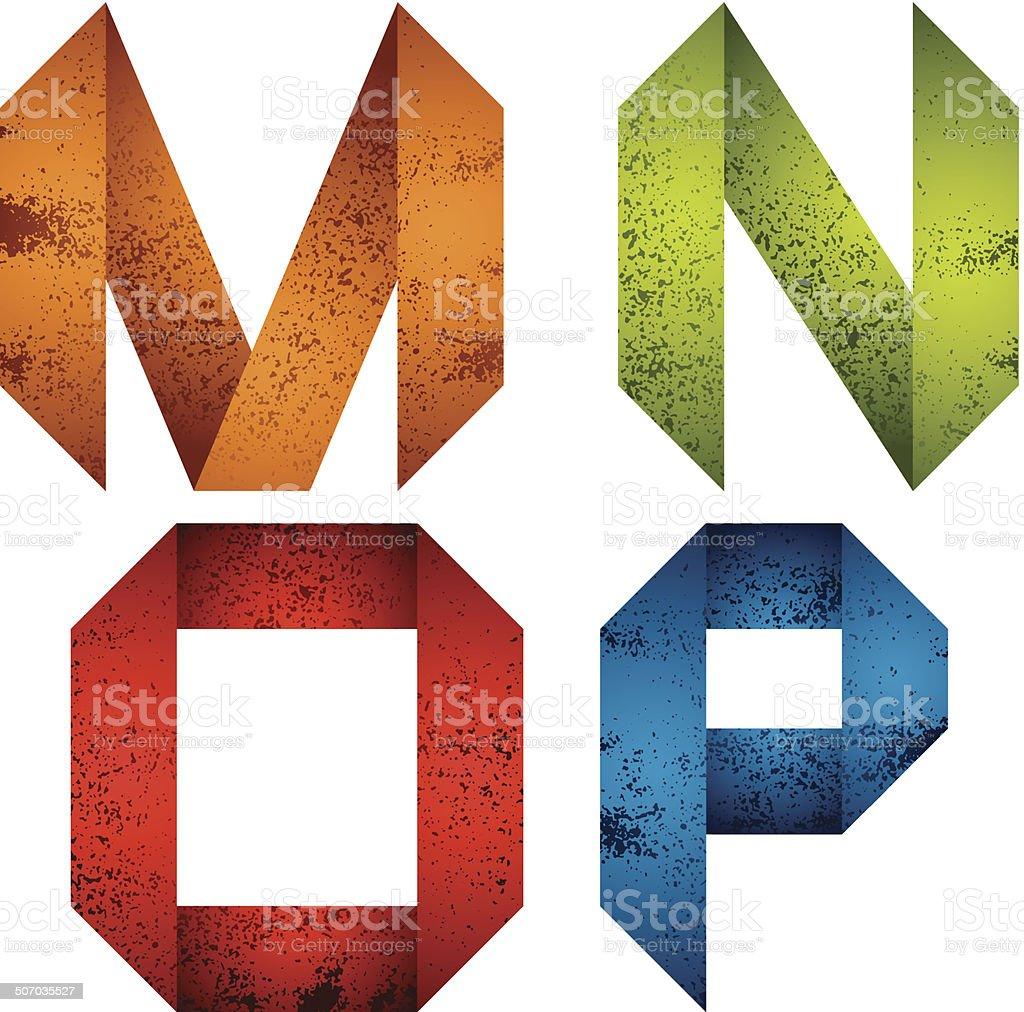alphabet origami m