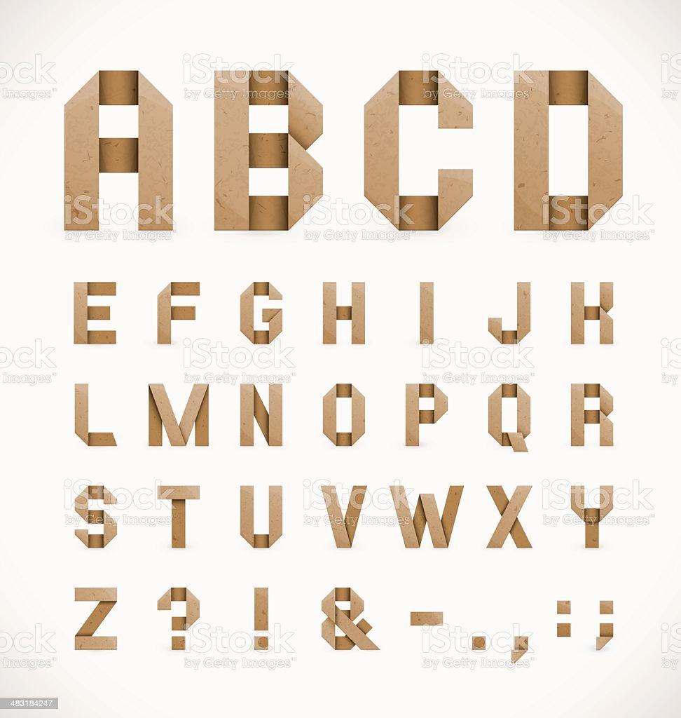 Origami Alphabet vector art illustration