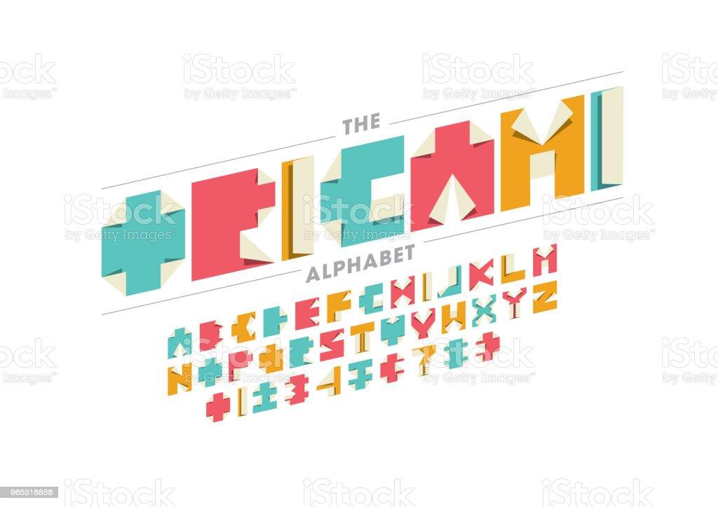 Modernes Origami Alphabet PSD - Kostenlose Photoshop-Pinsel bei ...   724x1024