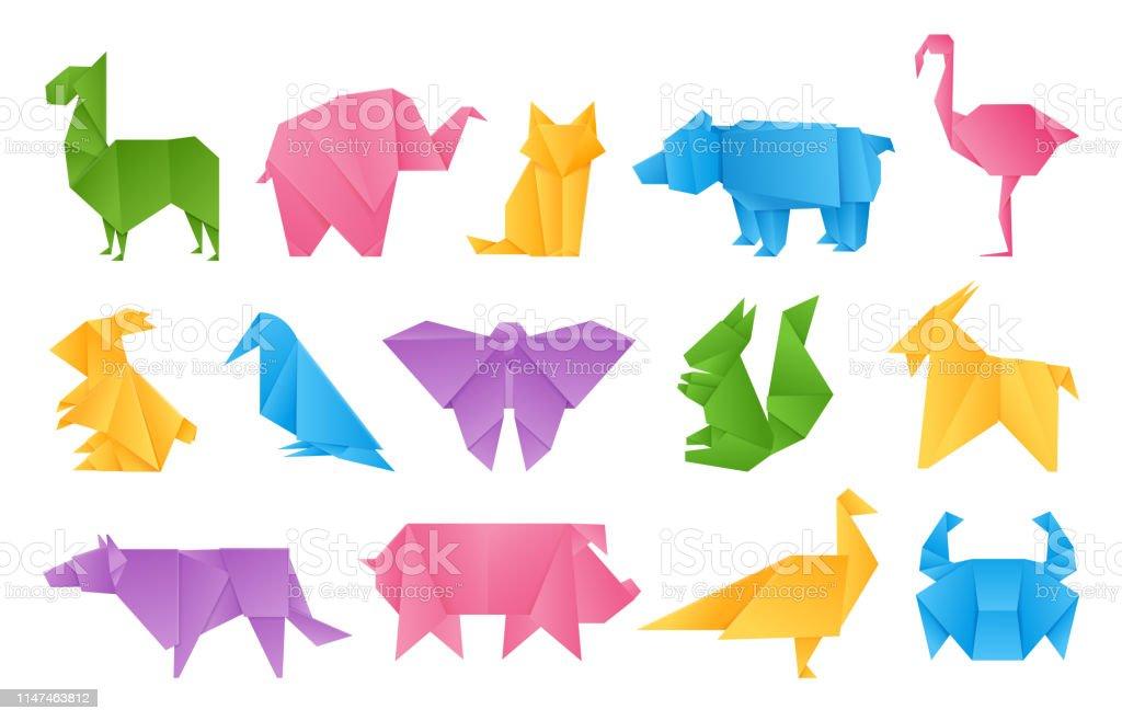 Animaux En Origami Jouets En Papier Dragon Ship éléphant