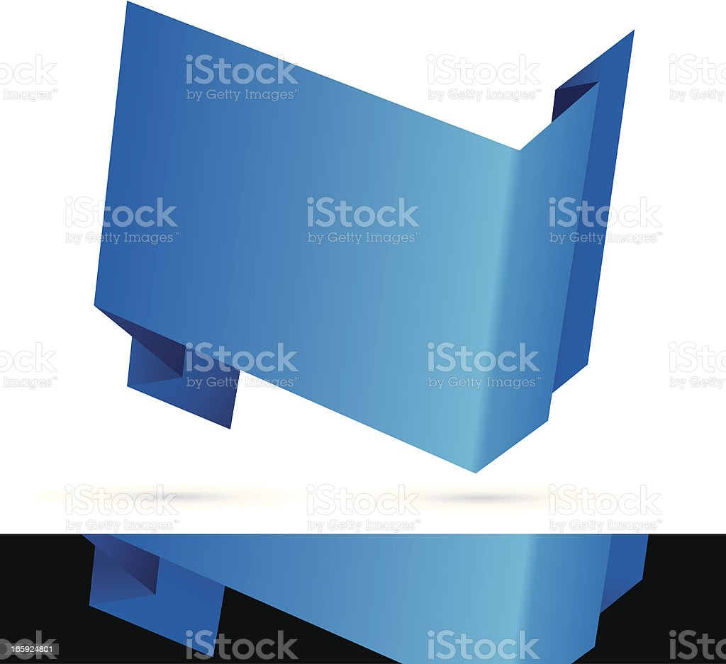 origami banner vector art illustration