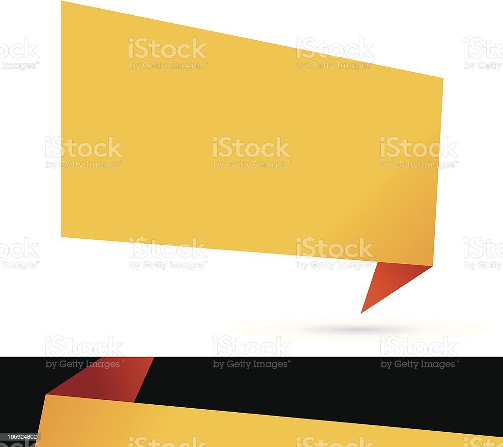 origami banner royalty-free stock vector art