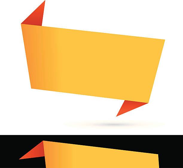 origami banner vector art illustration