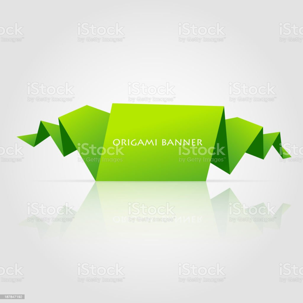 Origami banner royalty-free stock vector art