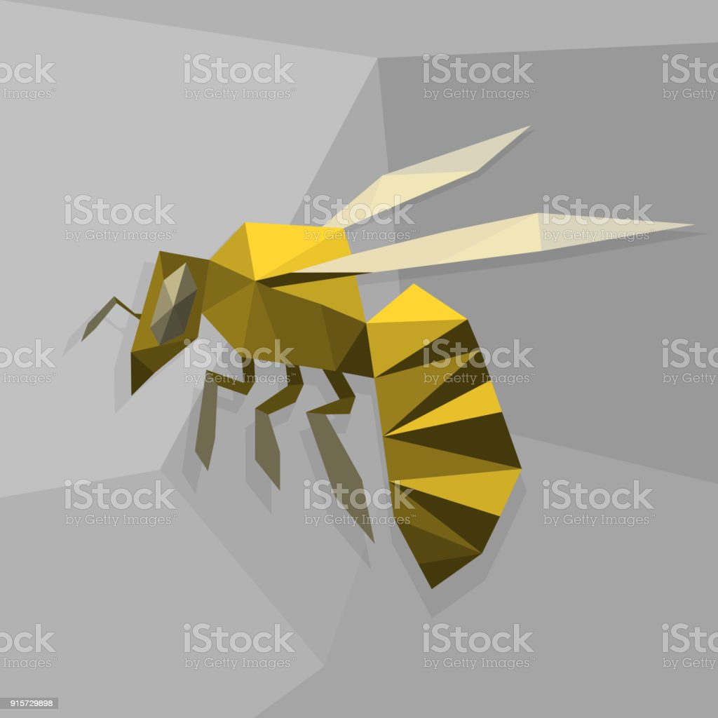 Origami Bee Royalty Free Stock Vector Art Amp More Images Of Abstract