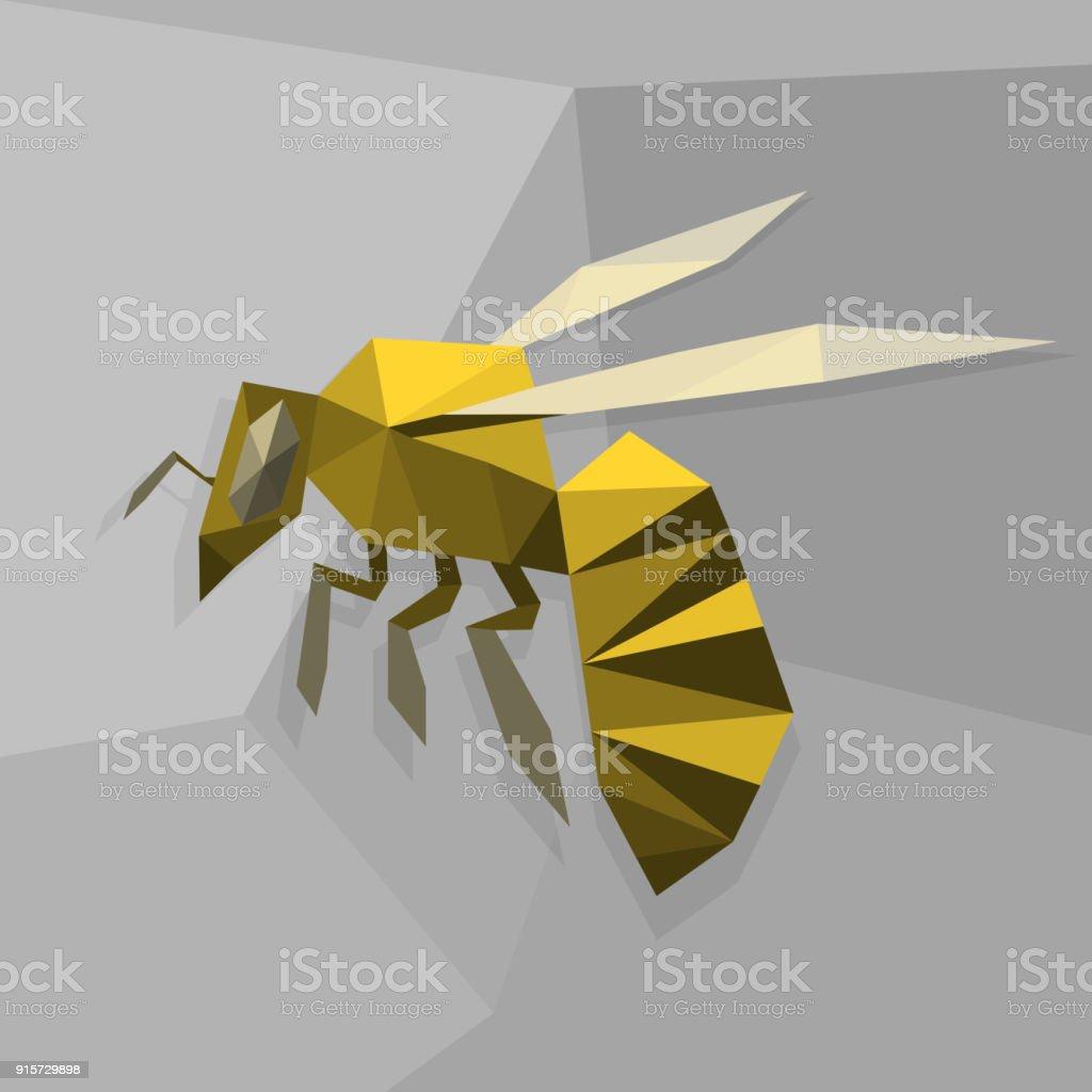 Origamibiene Stock Vektor Art Und Mehr Bilder Von Abstrakt 915729898