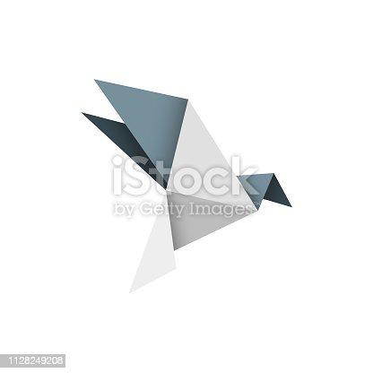 istock Origami bird design 1128249208