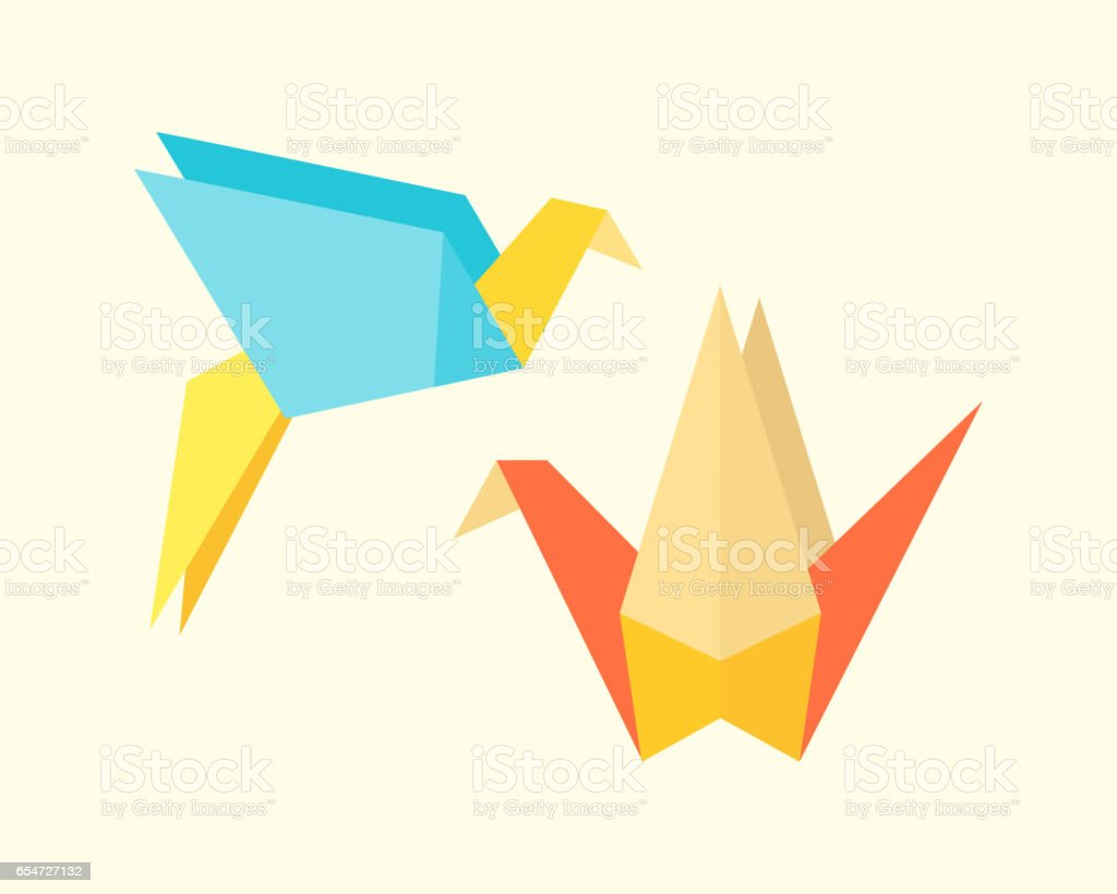 Origami birds crane abstract nature icon craft symbol art creative origami birds crane abstract nature icon craft symbol art creative decoration japan and paper fly wing biocorpaavc