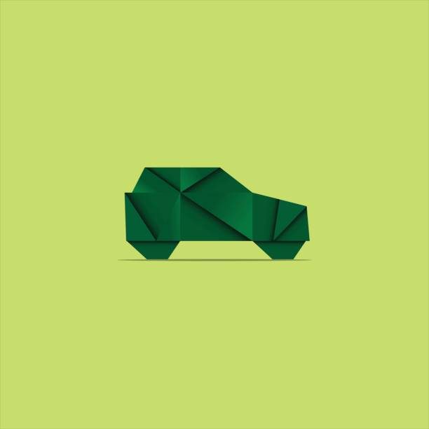 Royalty Free Origami Car Clip Art Vector Images Illustrations