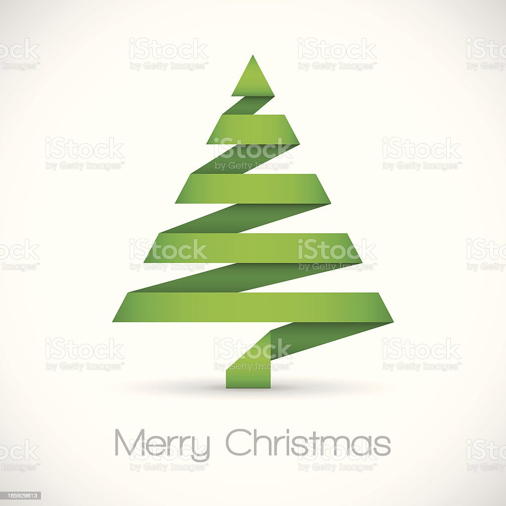 Origami Christmas Tree royalty-free origami christmas tree stock vector art & more images of abstract