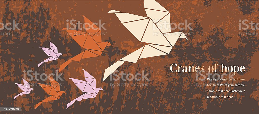 Origami cranes of hope royalty-free origami cranes of hope stock vector art & more images of animal