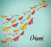 Origami digital design, vector illustration eps 10.