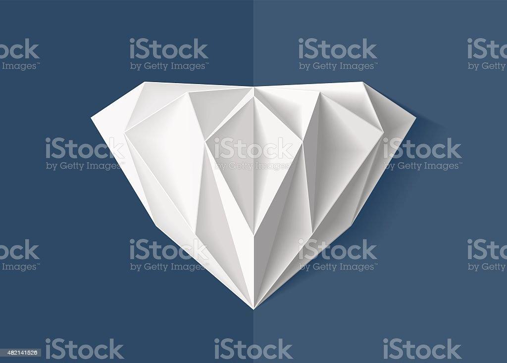 Origami diamond
