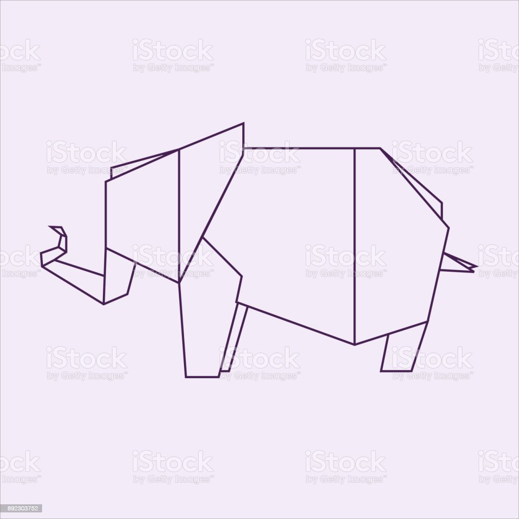 Origami Elephant Royalty Free Stock Vector Art Amp More Images Of Abstract