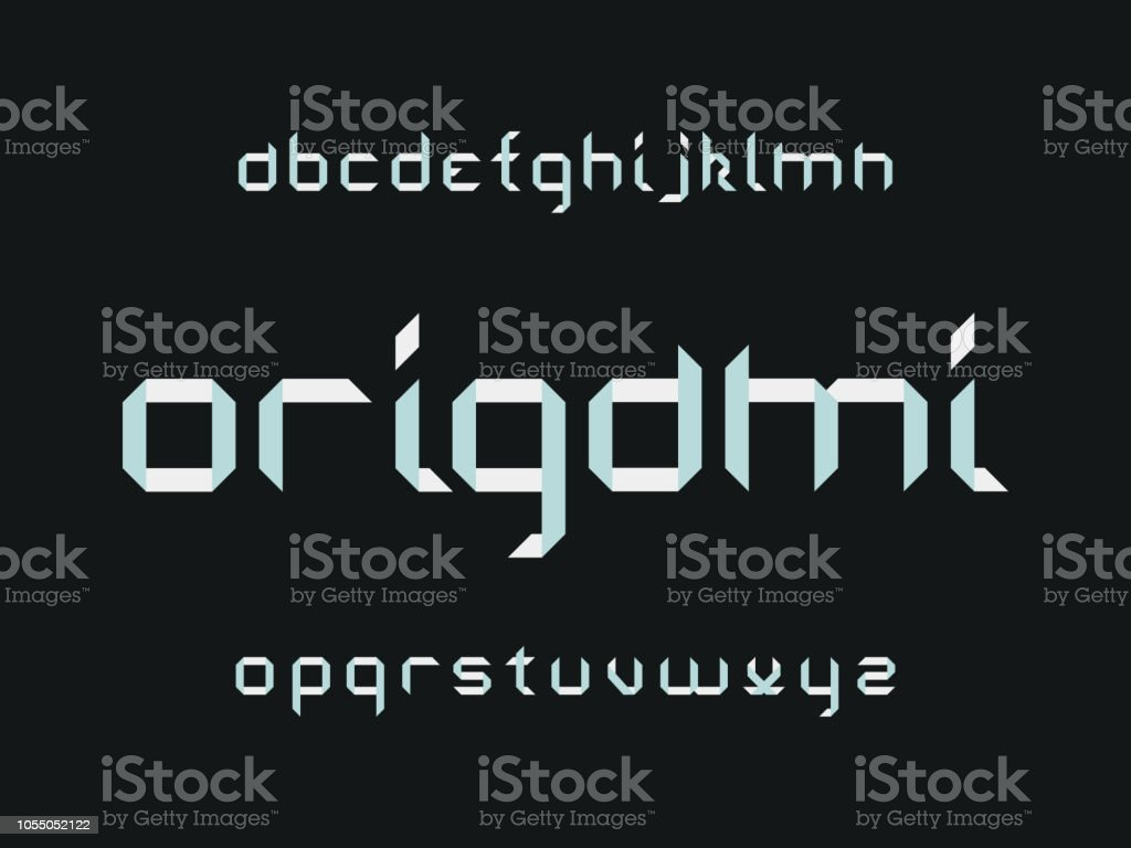 Origami Font Vector Alphabet Stock Vector Art More Images Of