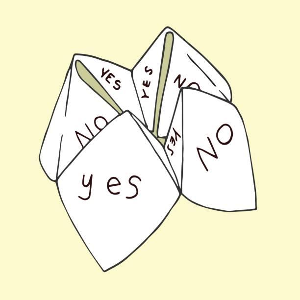 Origami Fortune Teller vector art illustration