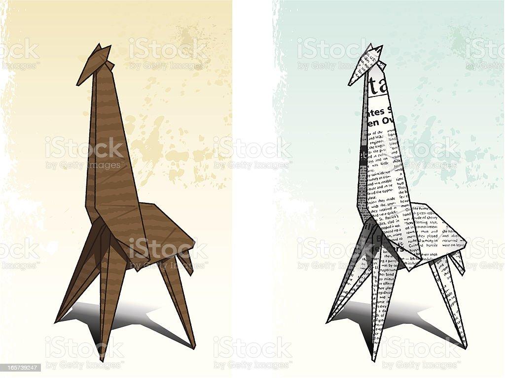 Origami Giraffe Stock Vector Art & More Images of Animal ... - photo#10