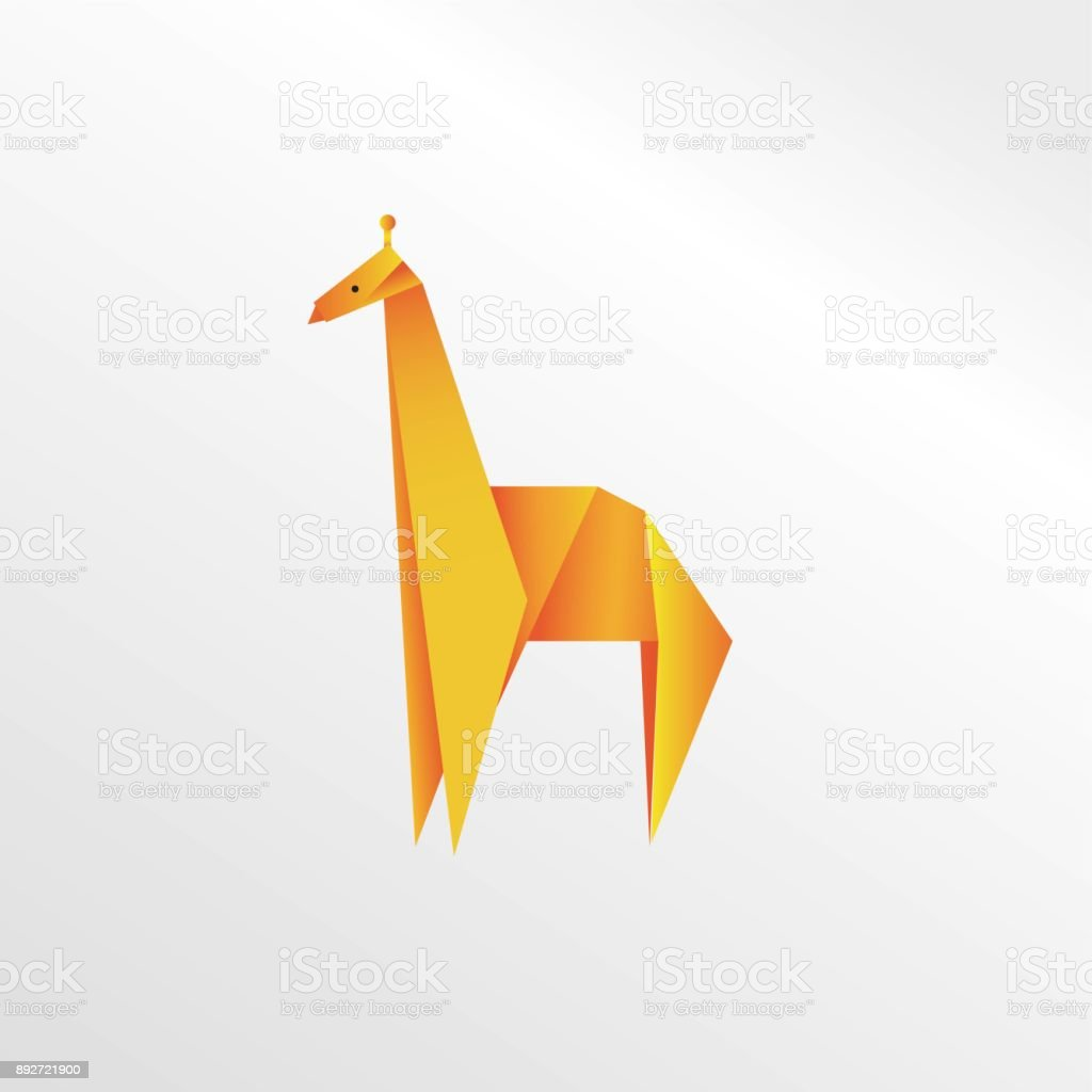 Origami Giraffe Royalty Free Stock Vector Art Amp More Images Of Abstract